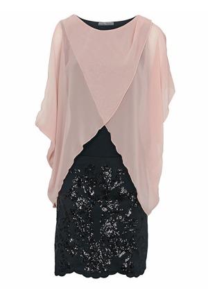 17247cf81fab ASHLEY BROOKE by heine Koktejlové šaty s flitry Ashley Brooke by heine  růžová černá
