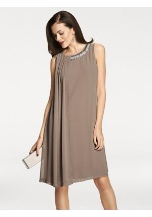 ASHLEY BROOKE by heine Šifónové šaty Ashley Brooke by heine hnědošedá 8abac235b6