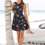 Beachtime Letní šaty Beachtime černá květinová
