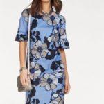 bianca Vzorované šaty Bianca bledě modrá-s potiskem