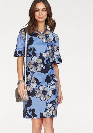 4607a35f7f9a bianca Vzorované šaty Bianca bledě modrá-s potiskem