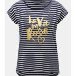 Bílo-modré dámské pruhované tričko Broadway Gannet