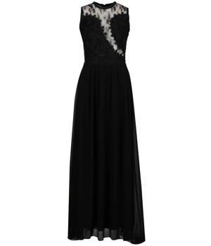 20b9ea08ac76 Černé dlouhé šaty s krajkovou horní částí a průsvitnými detaily AX Paris