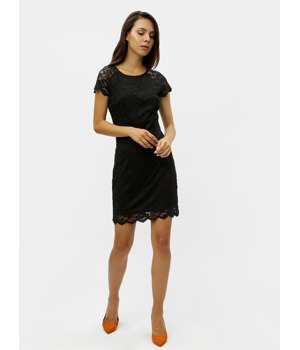 37ed8a311c28 Černé krajkové šaty s krátkým rukávem VERO MODA Milli