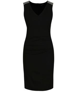 Černé pouzdrové šaty s pruhy Smashed Lemon  4712fe105a