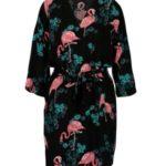 Černé vzorované kimono Jacqueline de Yong Maude