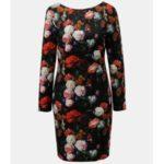 Červeno-černé květované šaty Smashed Lemon