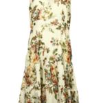 Dámské společenské květované  šaty s volánem – 0190M18 Wera
