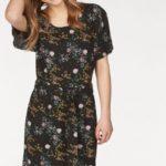 eksept Vzorované šaty »BUTTERFLY« Eksept černá-květovaná