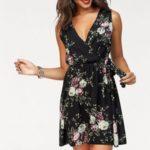 HaILYS Letní šaty »LAURA« Hailys černá-květovaná