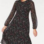 Herrlicher Šaty s potiskem »LISANN« Herrlicher černá-květovaná