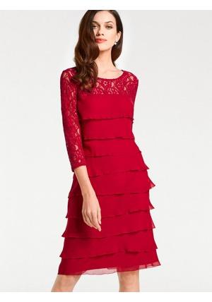 Krajkové šaty Ashley Brooke by heine červená  1ffdfa8fb6