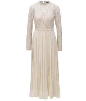 111345dc3389 Krémové šaty s plisovanou sukní Little Mistress
