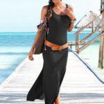 LASCANA Dlouhé šaty Lascana černá