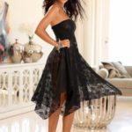 LASCANA Variabilní sukně s průhlednou krajkou Lascana černá