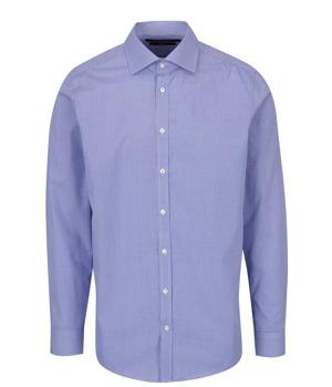 2d396939031a Modrá pánská formální slim fit košile s jemným vzorem STEVULA ...