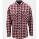 Modro-červená pánská károvaná košile BUSHMAN Gresham