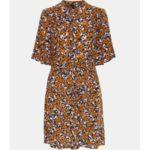Oranžové áčkové květované šaty VERO MODA Billia