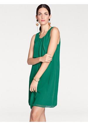 PAULO FANELLO Šifónové šaty s moderními záhyby Rick Cardona by heine zelená e45da0c5ca