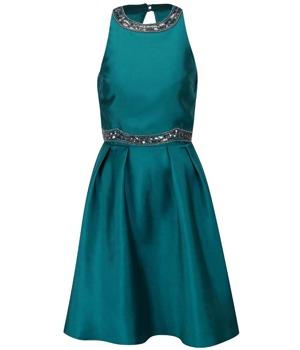 3974452066f Petrolejové šaty s aplikací Little Mistress