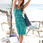 s.Oliver RED LABEL Beachwear Letní šaty s potiskem s.Oliver zelená-petrolejová
