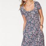 Šaty Cheer tmavě modrá/vlněná bílá/růžová/květinová