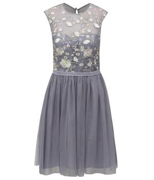 9f9267ca2404 Šedé šaty s tylovou sukní Little Mistress