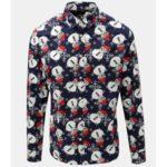 Tmavě modrá slim fit košile s motivem sněhuláků ONLY & SONS Funny Christmas
