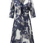 Tmavě modré krajkované šaty Ulla Popken