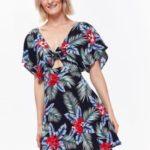 Top Secret šaty dámské barevné s netopýřím krátkým rukávem