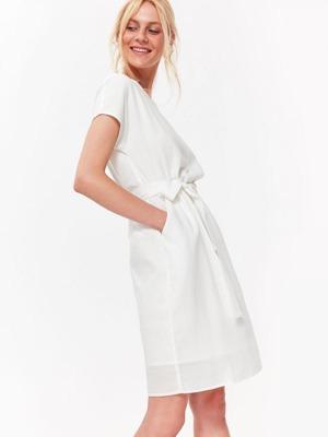 c23a677ed07 Top Secret šaty dámské bílé lněné s páskem
