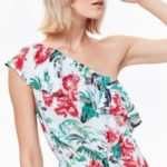 Top Secret šaty dámské květované dlouhé s odhalenými rameny