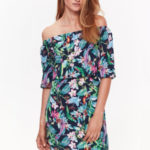 Top Secret šaty dámské květované s odhalenými rameny