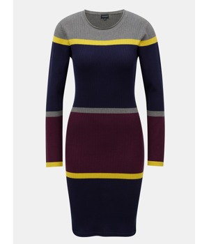bb024f067902 Vínovo-modré svetrové šaty Broadway Hermine