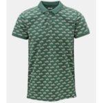 Zelené vzorované polo tričko Dstrezzed