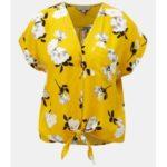 Žlutá květovaná halenka Dorothy Perkins Petite